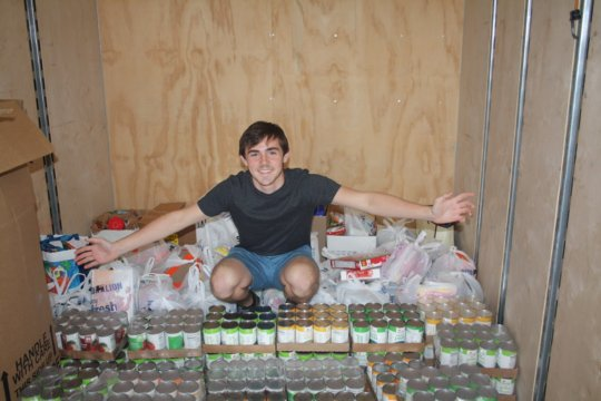 Trey's food drive helps feed over 1,000 people