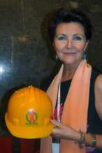 The wife of ex-president of Poland with our helmet