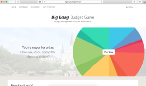 Big Easy Budget Game Home Page