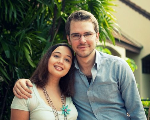 Jade with her husband, Toby