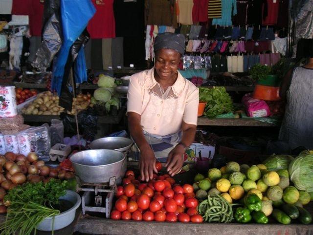 Mrs. Regina Zango in her store