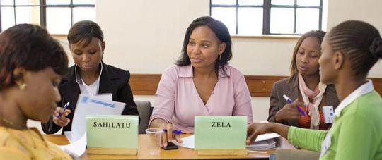 Zela at the 10,000 Women Emerging Leaders Program.