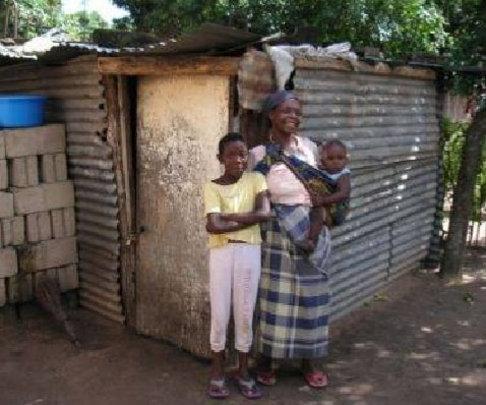 Regina Zango and her family in Maputo