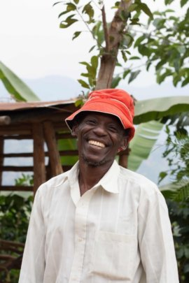 Charles on his farm in Mbale