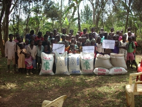 Food support,at Kiwologoma orphanage centre