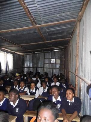 Girls listening to the facilitator