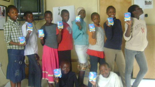 happy to receive sanitary pads