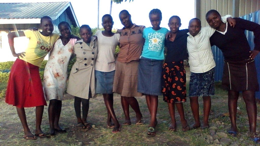 girls ahppy after saturday lifeskills session