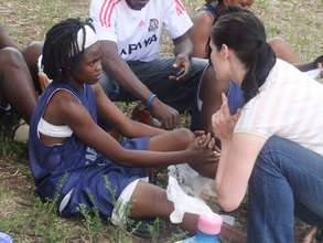 First Aid Support from US Volunteer
