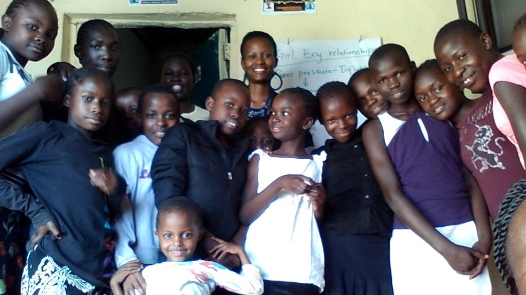 Girls happy after reproductive health session