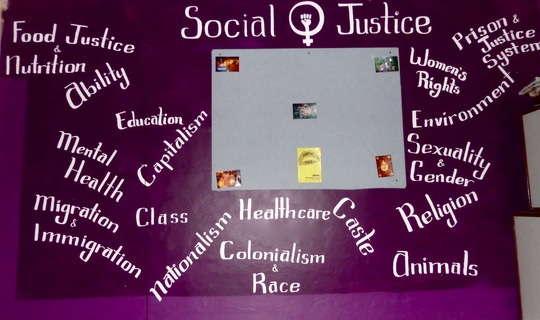 Volunteer Katelyn Painted Our Social Justice Wall