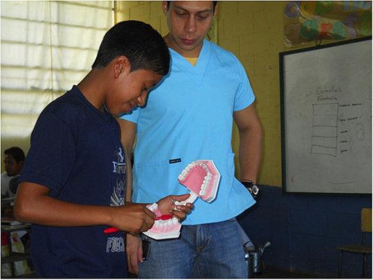 Dr. Contreras teaches dental hygiene