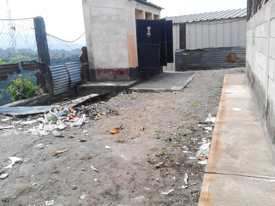 Pre-construction, bathrooms are in poor condition
