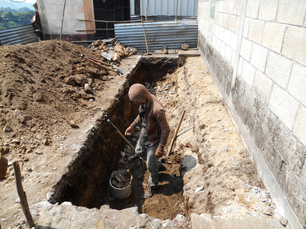 Digging wells for septic tanks
