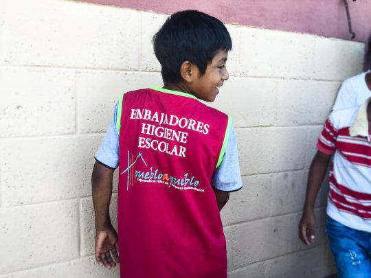 A WASH Student Ambassador at San Juan Mirador
