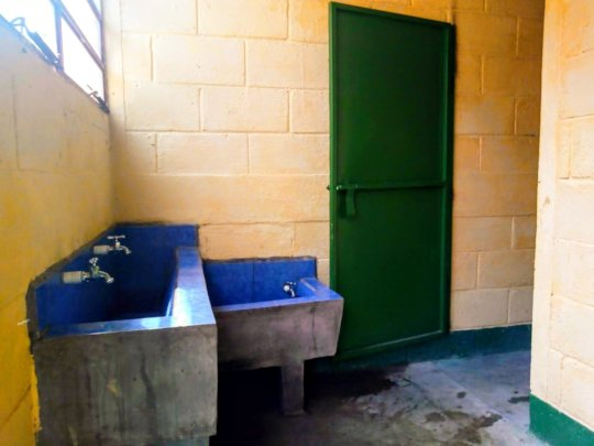 A new bathroom (with handwashing stations)