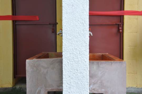 After: two new handwashing stations