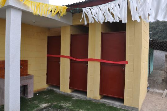 The new stalls decorated for the inauguration
