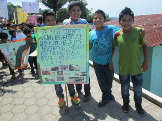 Students spreading environmental awareness!