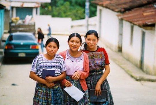 Girls attend the Rosa Moya tutoring center