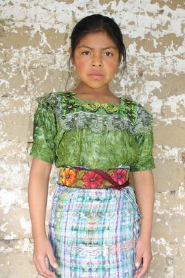 A scholarship recipient from San Juan Comalapa