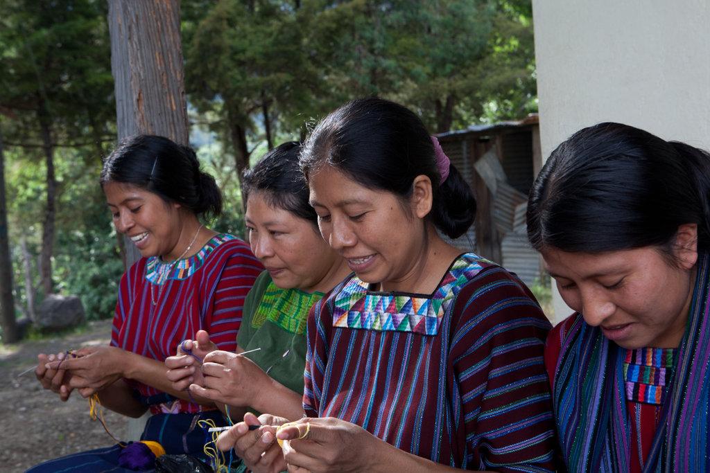 Kippot crocheters of San Marcos La Laguna