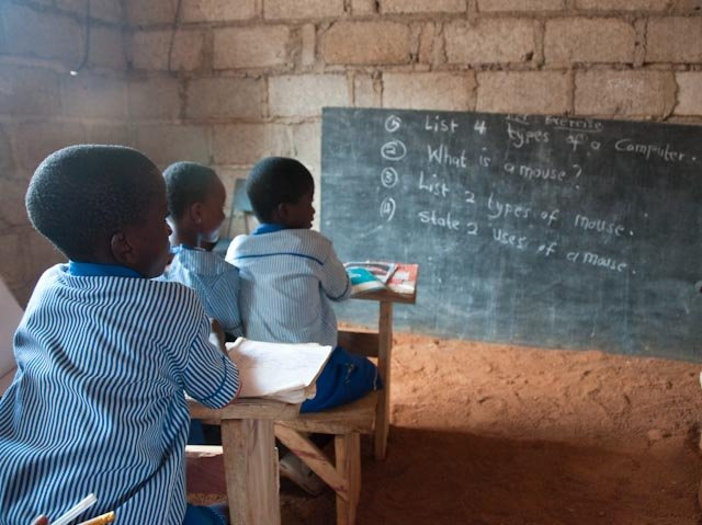 Students at Christ is the Answer School in Ghana.