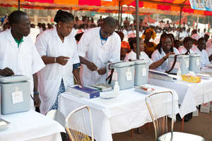 Health workers get ready for the campaign