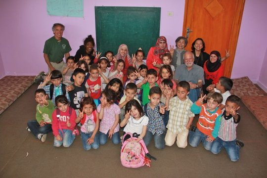 The children who joined the art workshop