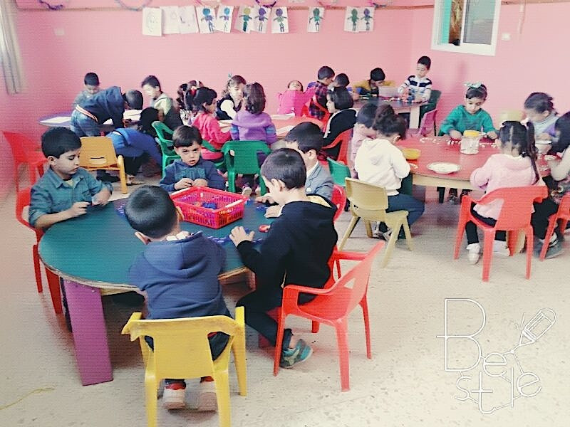 A busy day at Kindergarten