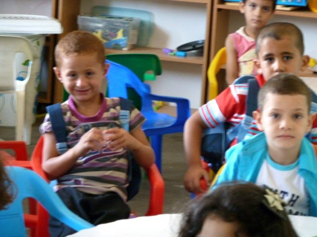 First day at the Al Haq Kindergarten in Al Aqaba
