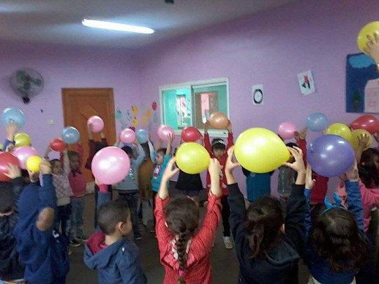 Balloons, teamwork, motor skills, and exercise!