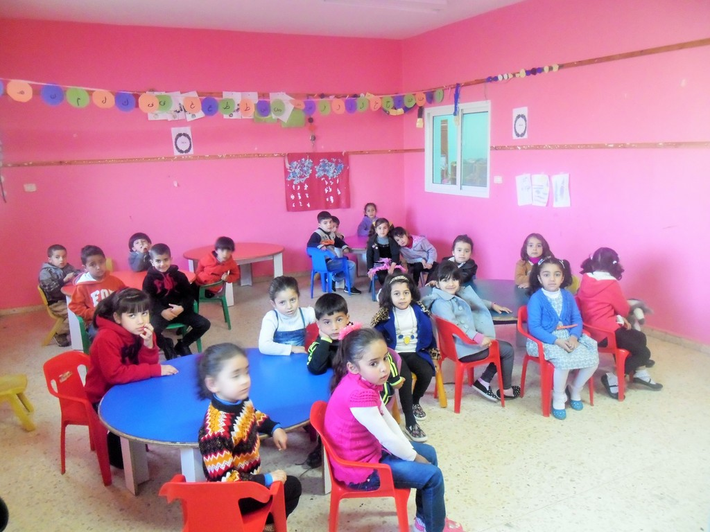 The children in one of the classes