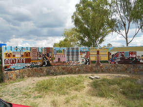 The last mural on our front wall by Shaka Ndovu