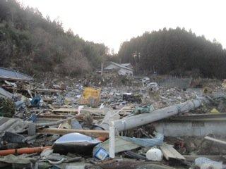 Debris field at Rikuzen-Takata.