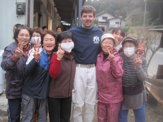 John Ferguson in Ogatsu-machi.