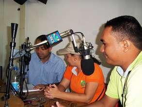 FUNDAUNIBAN staff  on local radio