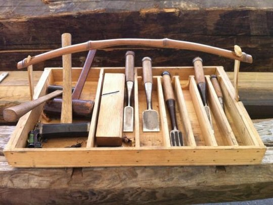 Beautiful Japanese tools used during construction