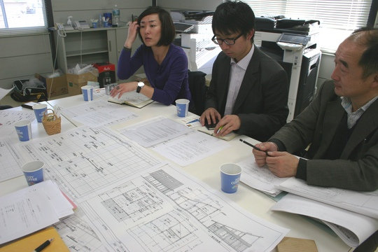 AfH architects and staff discuss plans