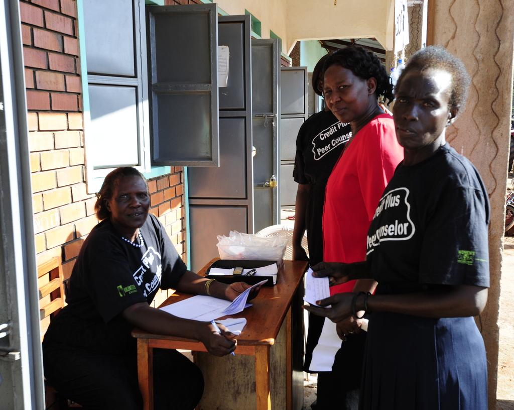 Peer Counselors volunteering in their community