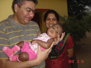 Rammohan with his wife and daughter