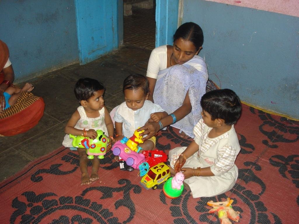 Home for 200 abandoned infants below 6, in India