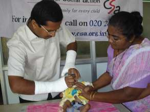 Vaccination for children in agency