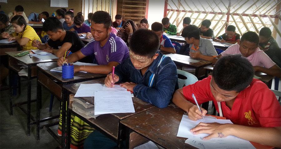 EPOP students sit the Final Diagnostic Test