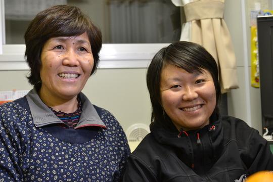Sachie Saijo and her mother Seiko