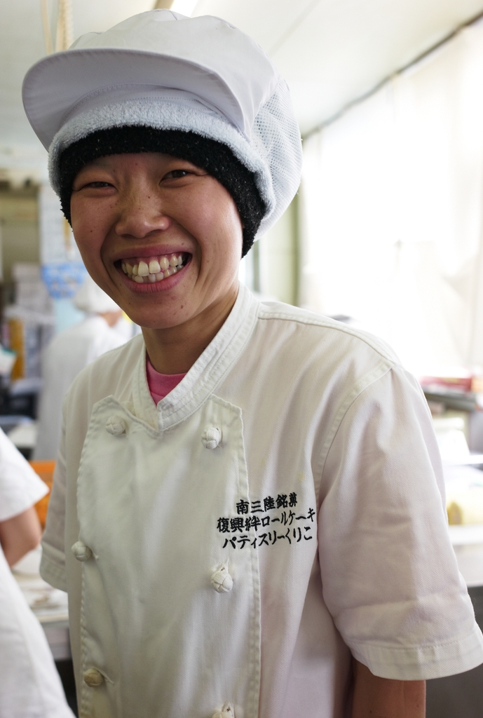 Newly hired woman in a bakery Mercy Corps supports