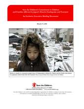 Japan Earthquake Tsunami Briefing Document (PDF)