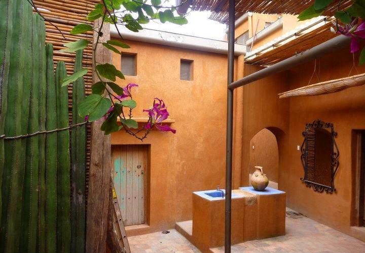 General view of the patio at Arquetopia Oaxaca