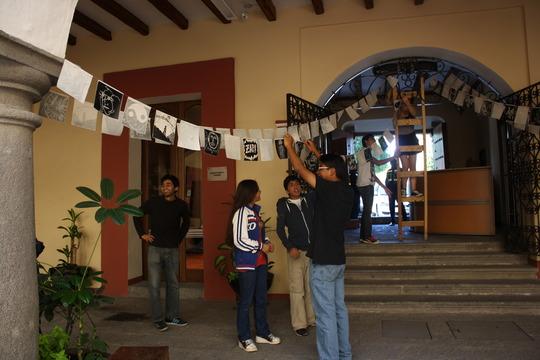 Students enjoying the installation process