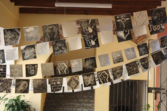 Detail of the installation at Museo de la Memoria